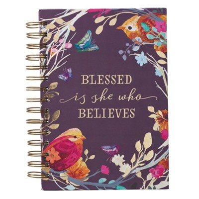 Journal Wirebound Blessed is she who Believes