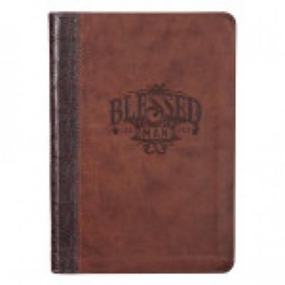 Journal Classic Blessed Man Brown zip Imitation Lthr