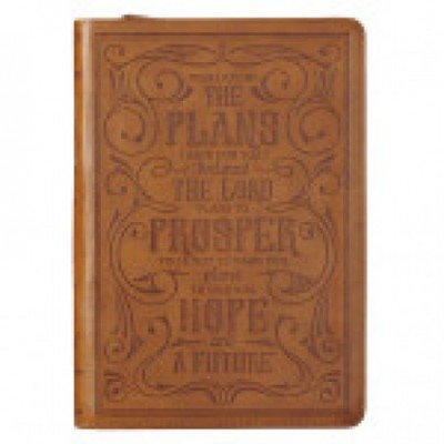 Journal Classic I Know The Plans Brown Luxleather Zip