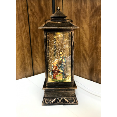 Nativity Lantern with Glitter and Music